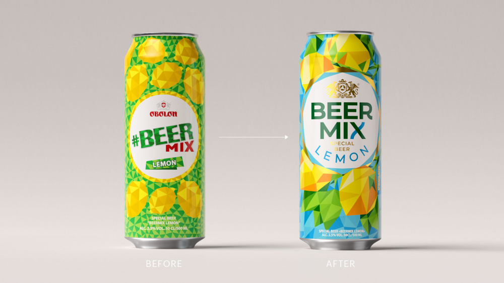 Украина. Beermix от «Оболони» обновляет дизайн