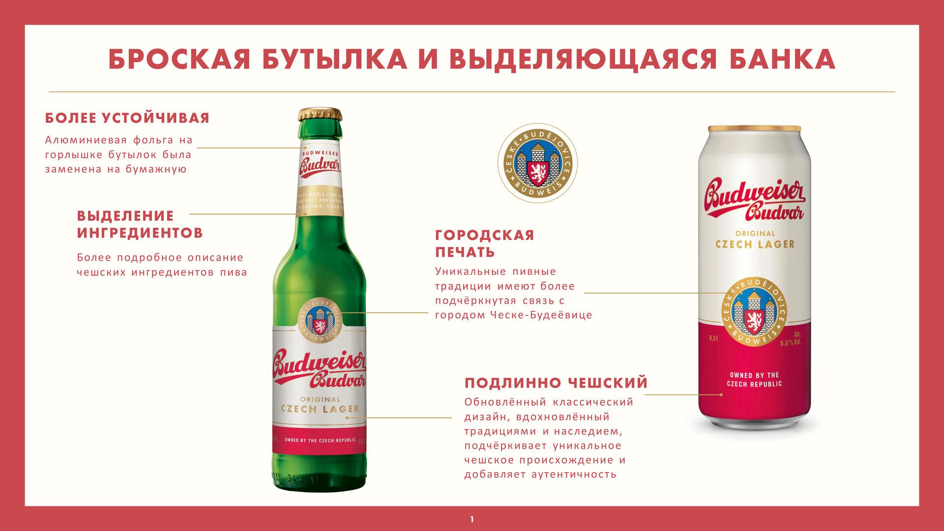 Новый облик Budweiser Budvar