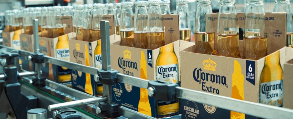 Corona Extra запустила в производство экологичную упаковку из ячменя
