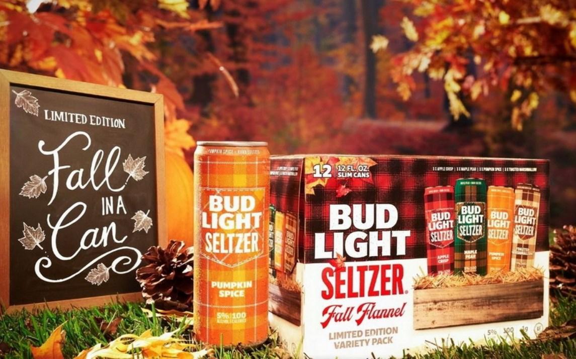 Компания AB InBev представила упаковку с зельцерами Bud Light в «осеннем оформлении»