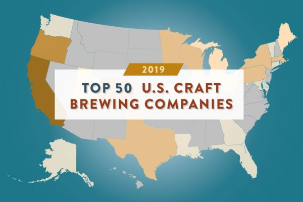 Brewers Association опубликовала ежегодный рейтинг 50 крупнейших пивоварен США