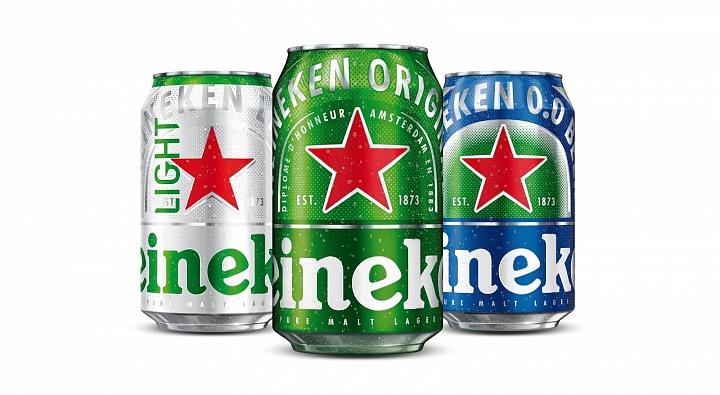 Heineken убрала надписи на упаковке