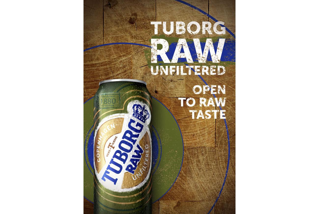 Россия. Нефильтрованный лагер Tuborg Raw появился в продаже